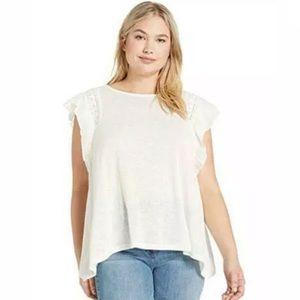 Jessica Simpson Moya Short Sleeve Blouse Size S